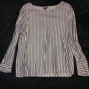 Metallic striped long sleeve Express blouse